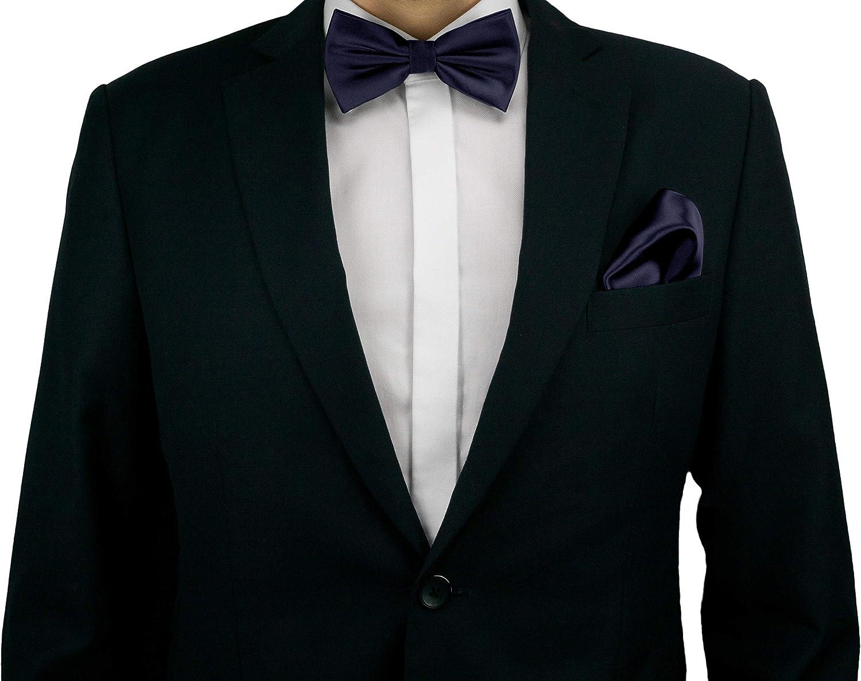 Helido Pajarita de 100% seda para Hombre + caja de regalo (Azul ...