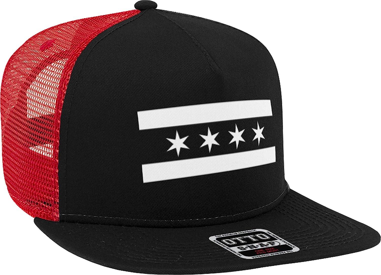 Chicago Flag Stated Stars Black White New Era 9Fifty Snapback Hat Cap Star