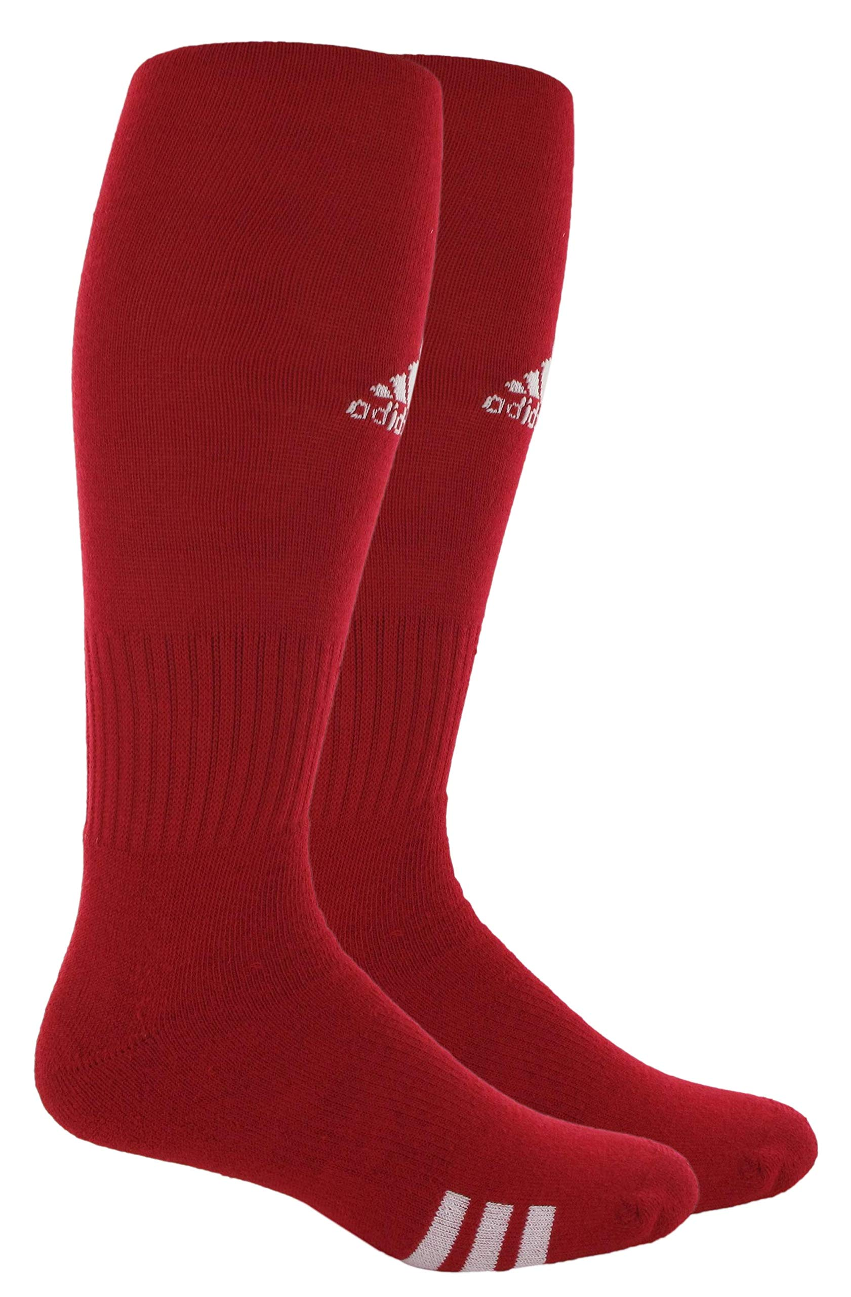 adidas Unisex Rivalry Field OTC Sock (2-Pair), University Red/White, 5-8.5 by adidas