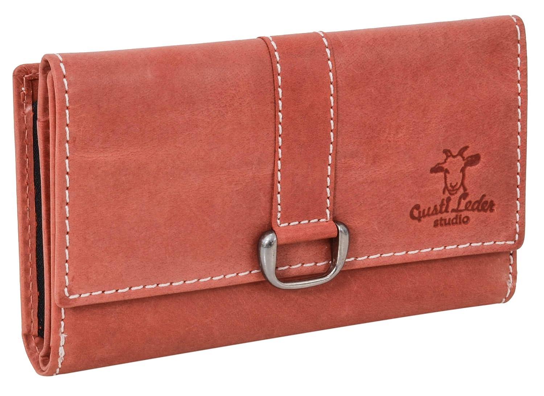 Portamonete di pelle Gusti Leder studio 'Mae' portafoglio borsetta sera donna monete vintage elegante rosso 2A95-22-10