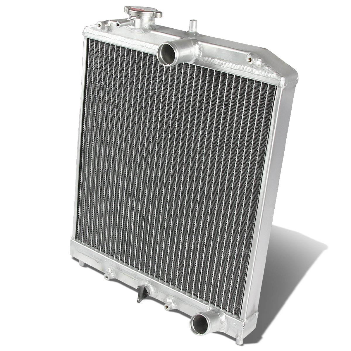 DNA Motoring RA-HC92-42-2 Honda D15/16/B18 1.5L/1.6L/1.8L I4 Mt 2-Row Dual/Double Core T-6061 Aluminum Radiator