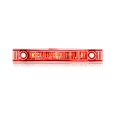 Maxxima M20341RCL Red Super Thin Profile LED Clearance Marker Light with Clear Lens: Automotive [5Bkhe2012449]
