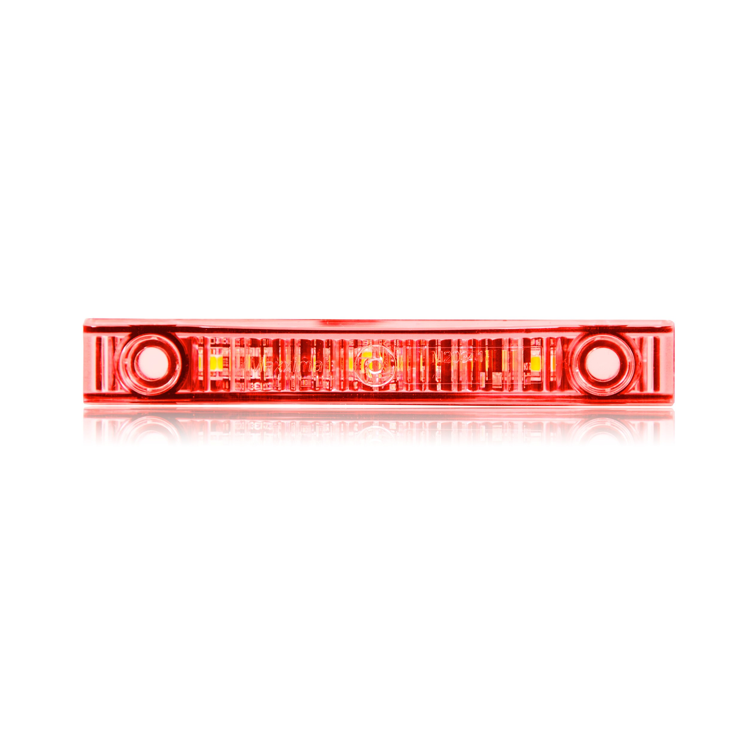 Maxxima M20341RCL Red Super Thin Profile LED Clearance Marker Light with Clear Lens by Maxxima