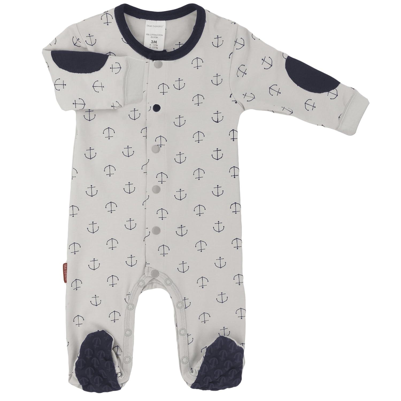 Blue Banana Baby Boys Front Snap Sleeper, Grey Print, 18 Months Kushies Baby L16361860