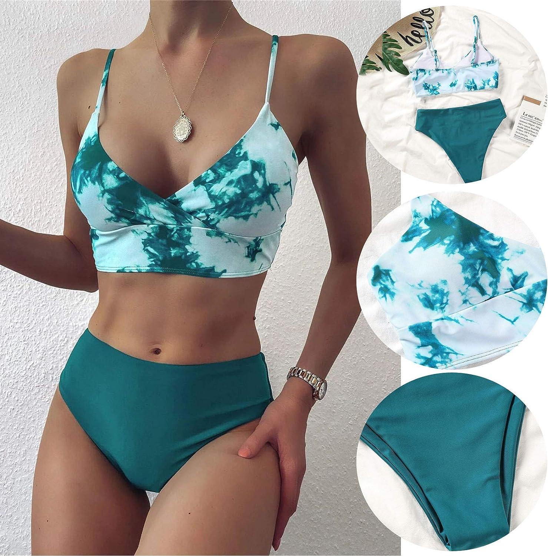Women Bandage Bikini Set Push-Up Brazilian Print Swimwear Beachwear Swimsuit UK