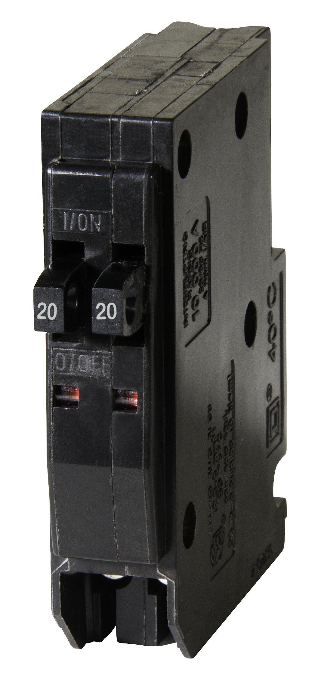 Square D by Schneider Electric QO2020CP QO 2-20-Amp Single-Pole Tandem Circuit Breaker