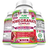 Premium Pomegranate Juice Powder Supplement 1200mg, Supports Healthy Blood Pressure, Joints, Skin & Anti Aging with…