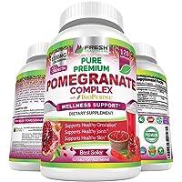 Premium Pomegranate Juice Powder Supplement 1200mg, Supports Healthy Blood Pressure...