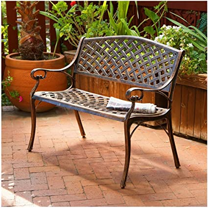 Amazon.com: BS banco de jardín asiento Loveseat Patio porche ...