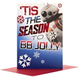 Hallmark Star Wars Medium Christmas Card 'BB Jolly'