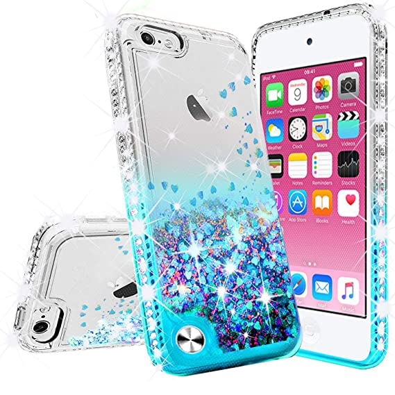 the best attitude a3712 8cbad [GW USA] Glitter Phone Case for Apple iPhone 8 Plus Case, iPhone 7 Plus  Case,Liquid Glitter Waterfall Floating Quicksand Bling Sparkle Protective  ...