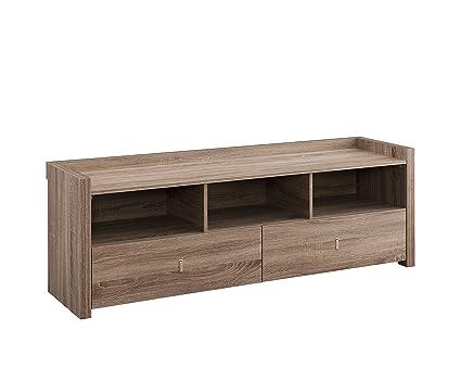 amazon com iohomes brooks tv cabinet 60 light oak kitchen dining rh amazon com