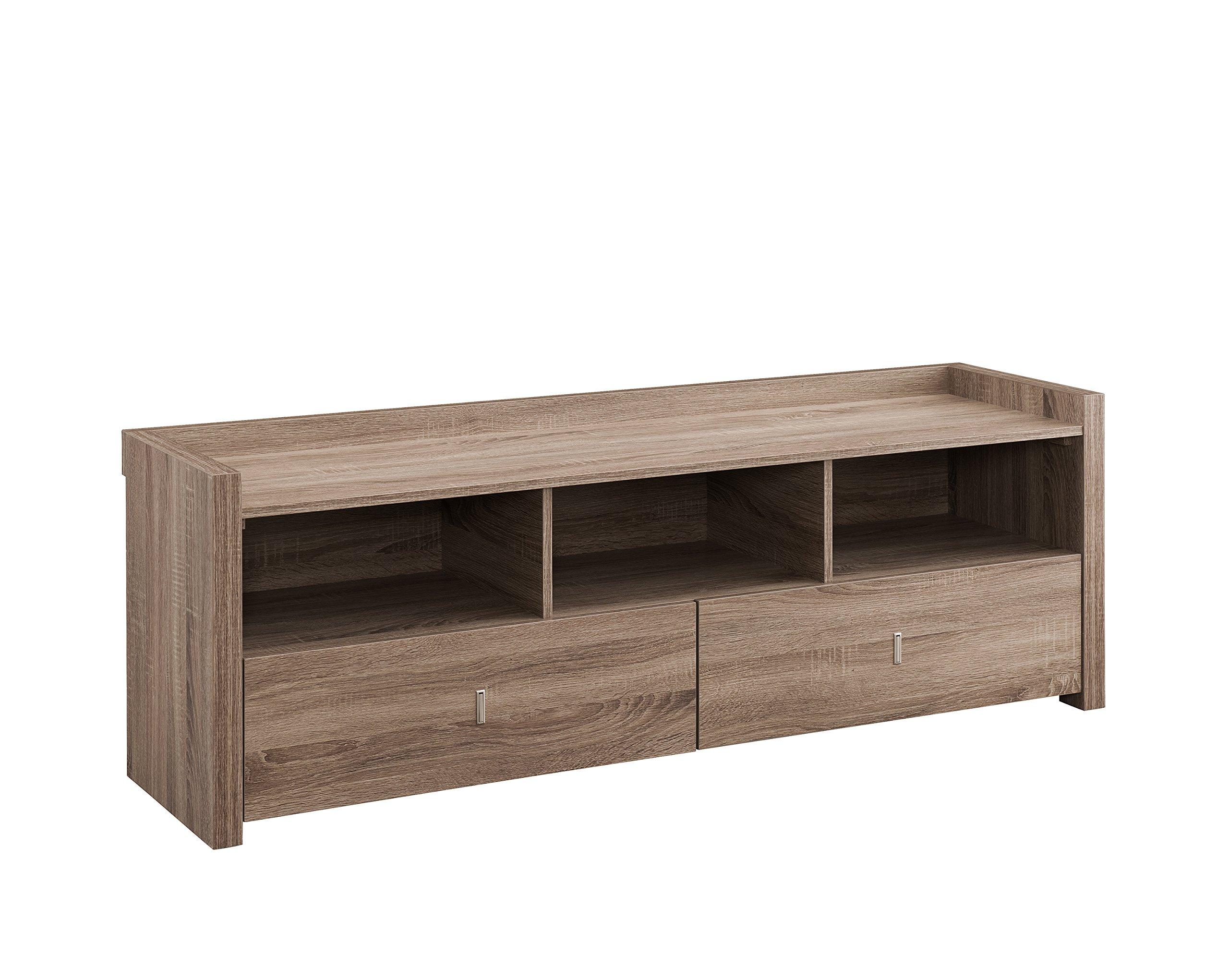 ioHOMES Brooks TV Cabinet, 60'', Light Oak