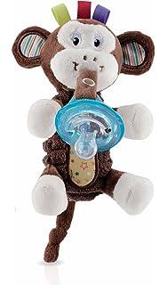 Chupete con elefante BabyHuggle - Chupeta con peluche para ...