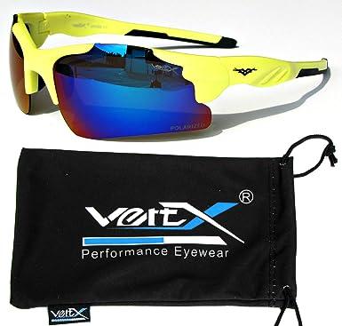 VertX polarisiert Neon Sonnenbrille Sport Wrap-Around-Radfahren laufen im freien gSVJssc