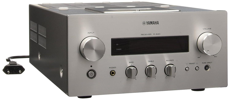 Yamaha R-840 - Amplificador de audio (2.1, 130W, 0,04%, Terminales de abrazadera, 21,5 cm, 34,8 cm): Amazon.es: Electrónica