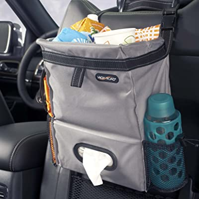 High Road Puff'nStuff Car Seatback Organizer with Trash Bag, Tissue and Bottle Holders (Gray): Home Improvement