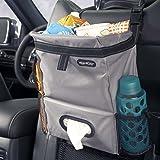 High Road Puff'nStuff Car Trash Bag Organizer and Tissue Holder (Gray)