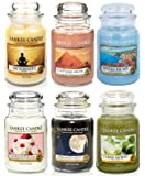 Official Yankee Candle Classic Favourites Indulgence Selection Box Gift Set Of 6 Signature Large Jars