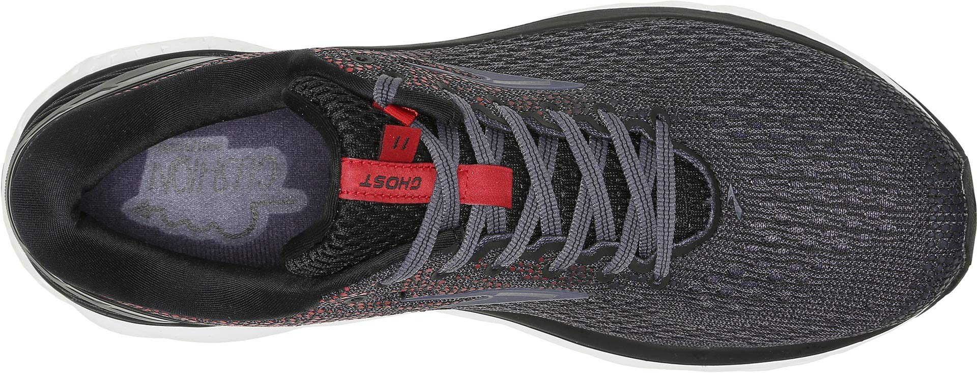 Brooks Men's Ghost 11 Black/Graystone/Cherry 7 D US by Brooks (Image #1)