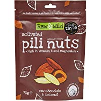Raw & Wild Activated Pili Nuts Raw Chocolate and Coconut, 70 g