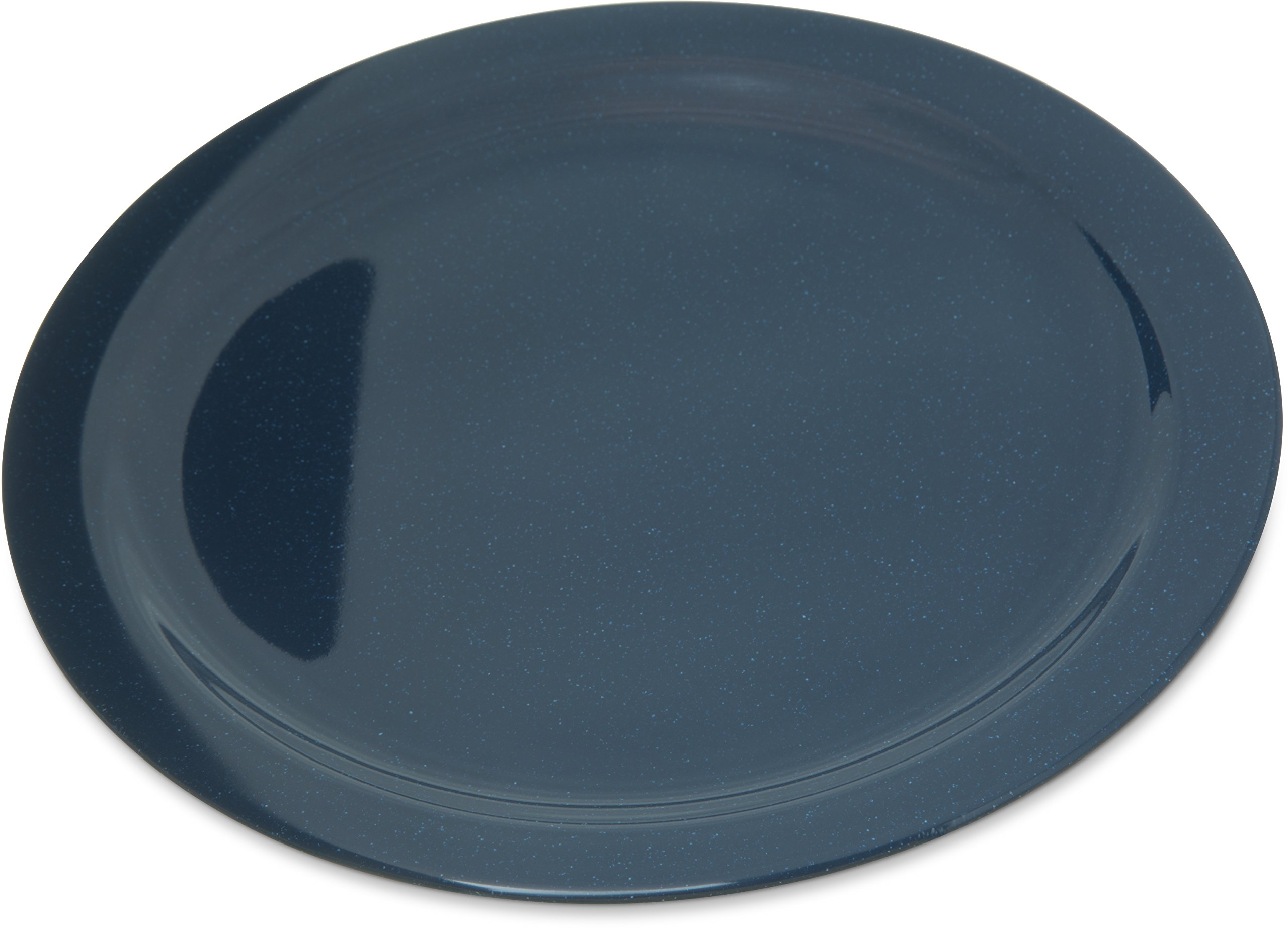 Carlisle 4350035 Dallas Ware Melamine Dinner Plate, 10.20'' Dia. x 0.84'' H, Cafe Blue (Case of 48)