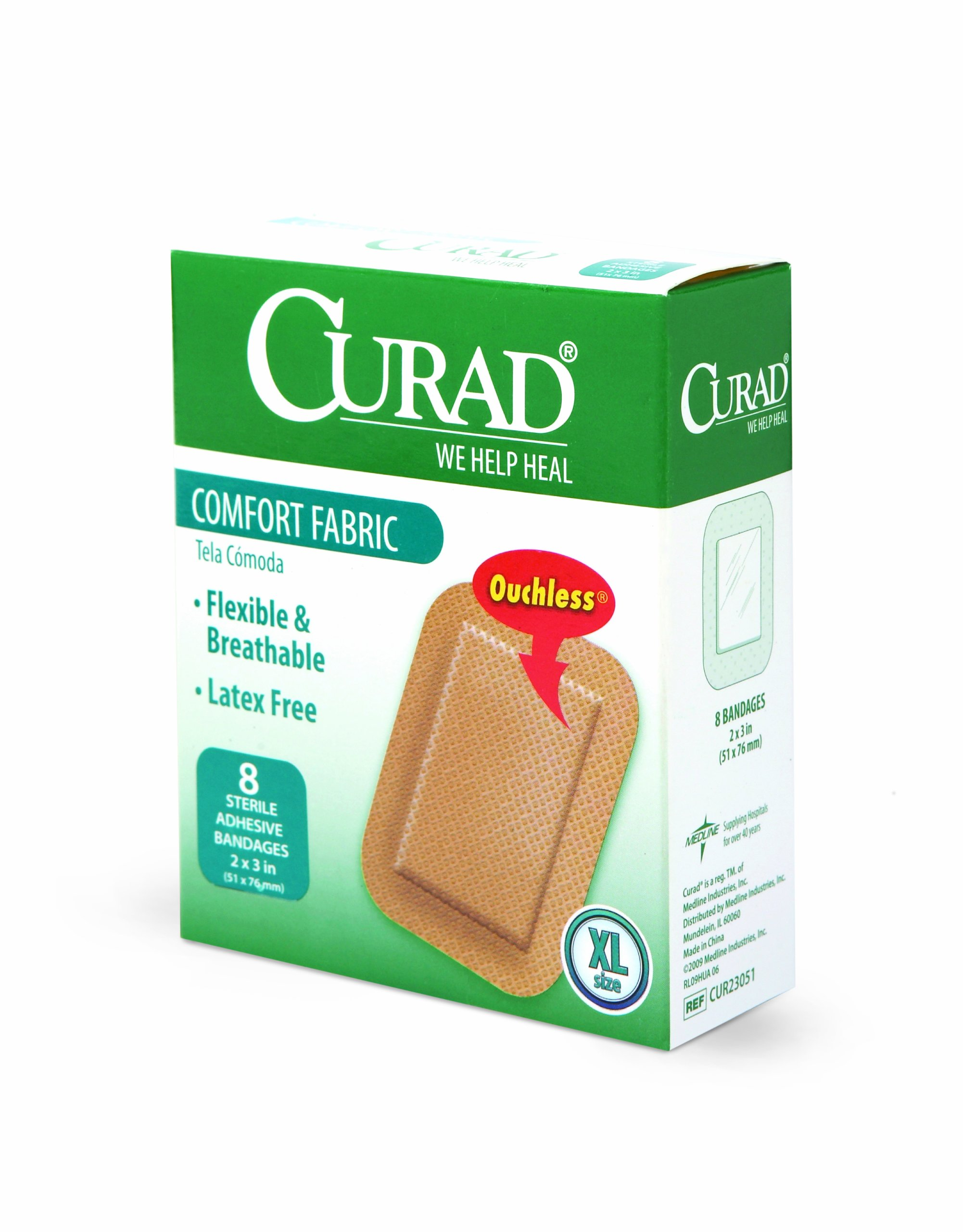 Curad Extra Large Comfort Fabric, 2 Inches X 3 Inches (Pack of 4)