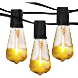 Brightech Ambience Pro - Gold Tip Teardrop String Lights - Waterproof LED Outdoor String Lights - Hanging Dimmable 1W…