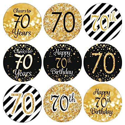 Amazon DISTINCTIVS Black And Gold 70th Birthday Party Favor