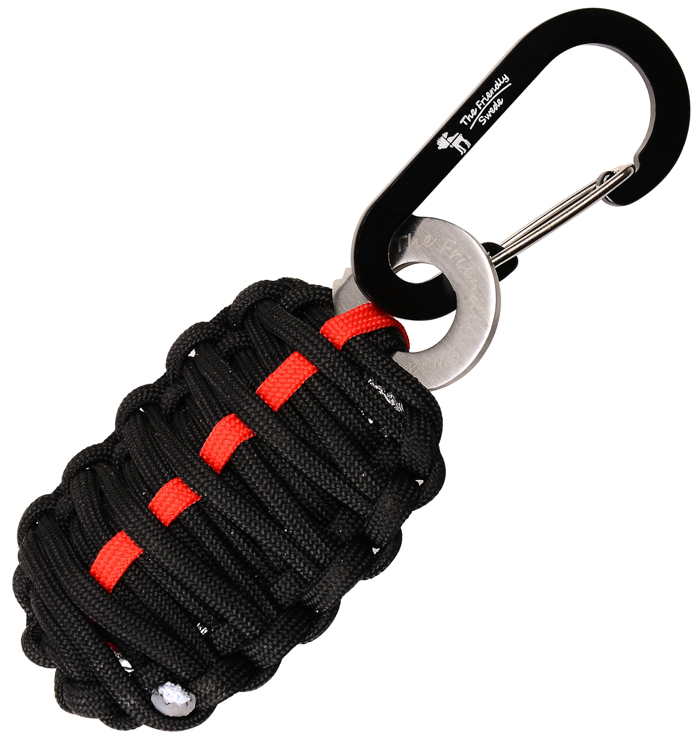 The Friendly Swede Auideas Carabiner Grenade Survival Kit with Eye Knife