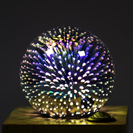Amazon.com: Aokairuisi 4W E26/E27 3D Light Bulb Decorative Lamp Colorful Fireworks Filament Bulb for Home Bar Party Glass LED Lamp (G80): Home & Kitchen