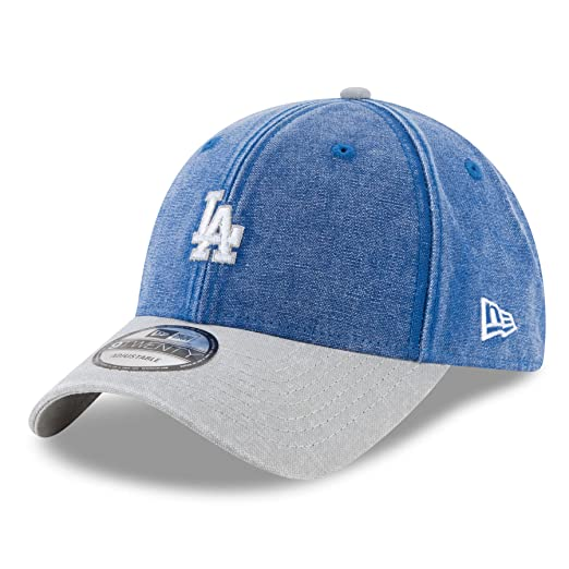 save off a1986 2aa0a New Era Los Angeles Dodgers Rugged Canvas 9Twenty Men s Snapback Hat Denim  Blue 80421019 (Size
