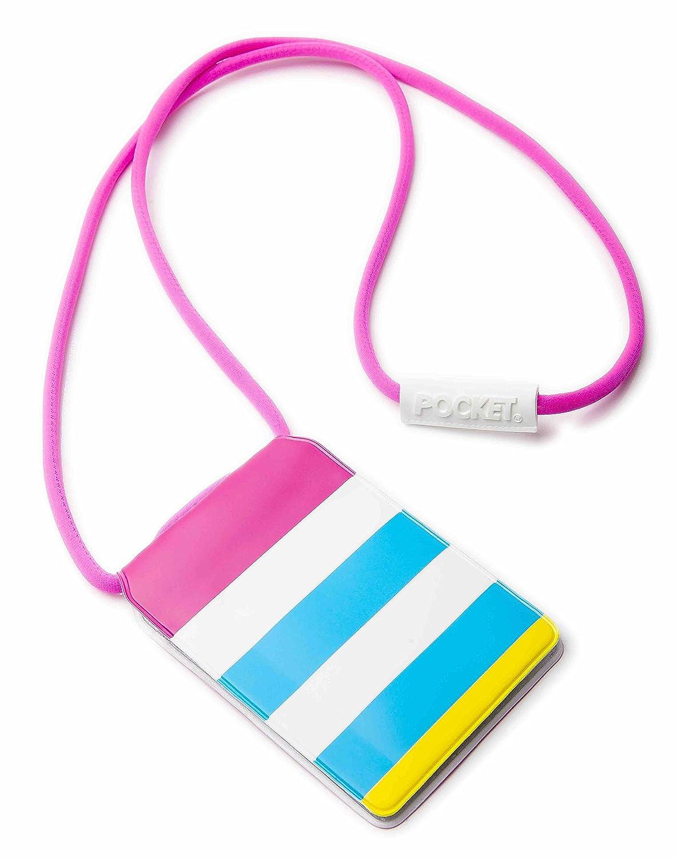 Original Lanyards® POCKET stylische Taschengeldbörse Brustbeutel, in 10 Farben erhältlich - (Made In Portugal) B-White