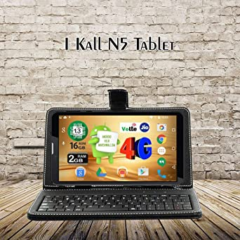 IKall N5 Tablet  7 inch, 16 GB, 4G + LTE + Voice Calling , Black with Keyboard Tablets