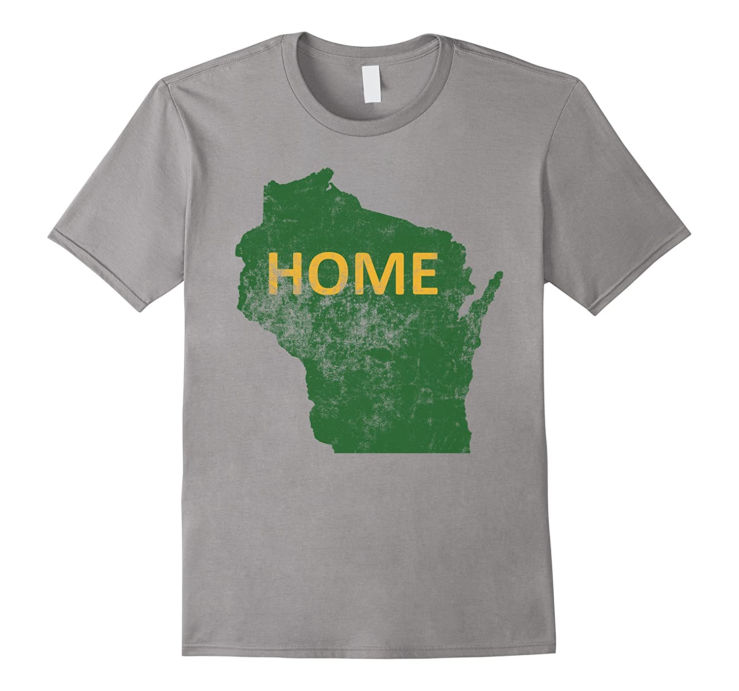 Home - Wisconsin Green & Yellow T-Shirt-TH