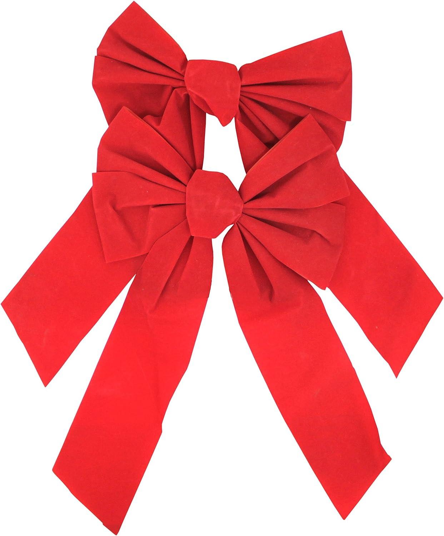 Iconikal 8 x 10-inch Red Velvet Bows 20-Pack