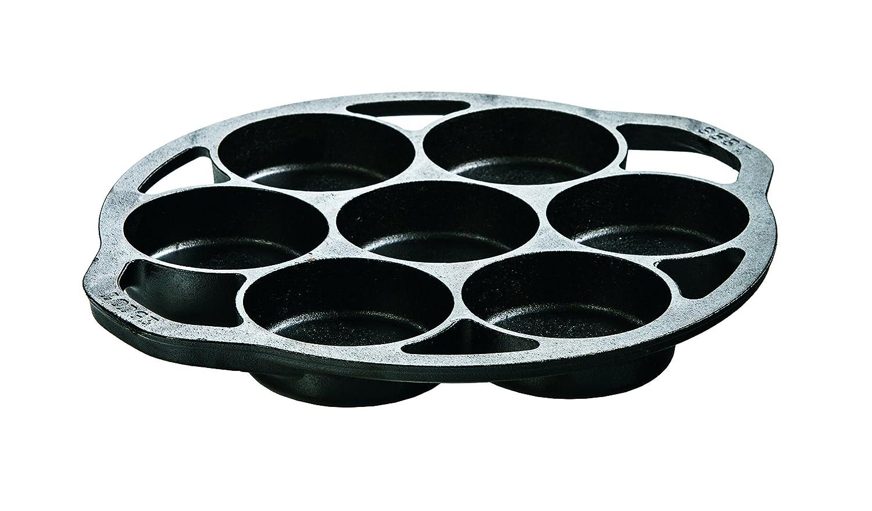 Lodge L7B3 Logic Pre-Seasoned Drop Biscuit Pan (Black)