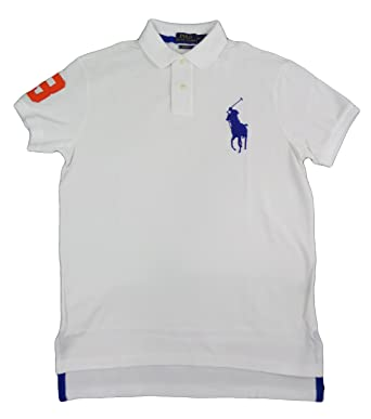 51d24361 Image Unavailable. Image not available for. Color: Polo Ralph Lauren Mens  Custom Fit Big Pony Polo Shirt ...