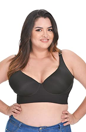 40d3ec472c GLORIOUS SHAPE Back Fat Bra Black