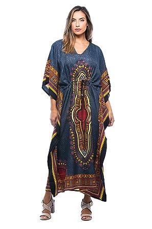 4bd430ae508 Riviera Sun African Print Dashiki Maxi Caftan for Women at Amazon ...