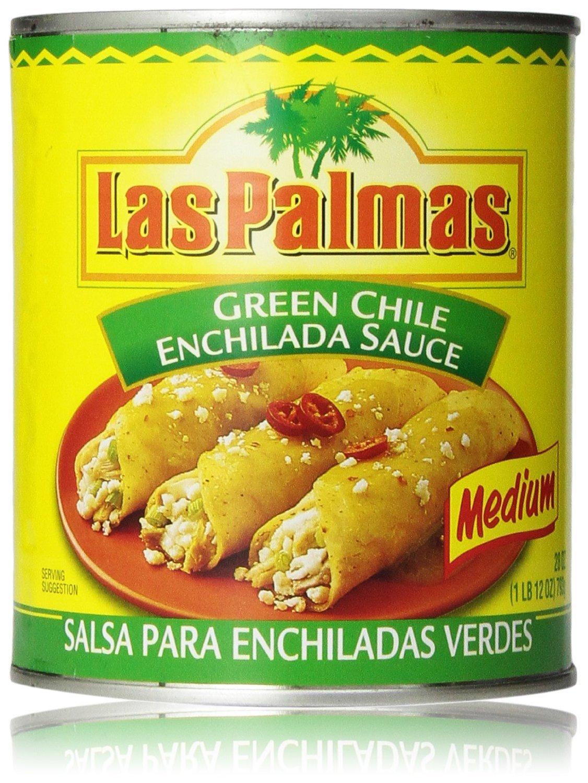Las Palmas Green Chile Enchilada Sauce, Medium 10 Oz (Pack of 6) by Las Palmas