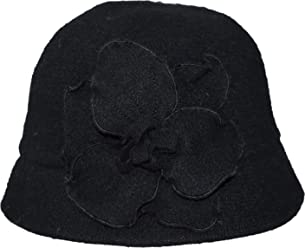 59693d8d199 AUGUST HAT COMPANY Floral Accented Packable Wool Blend Cloche Hat