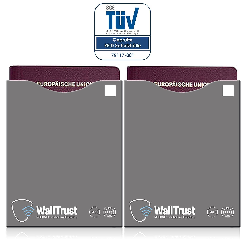 WallTrust® RFID NFC Blocker Reisepassschutzhülle | Blocking ...