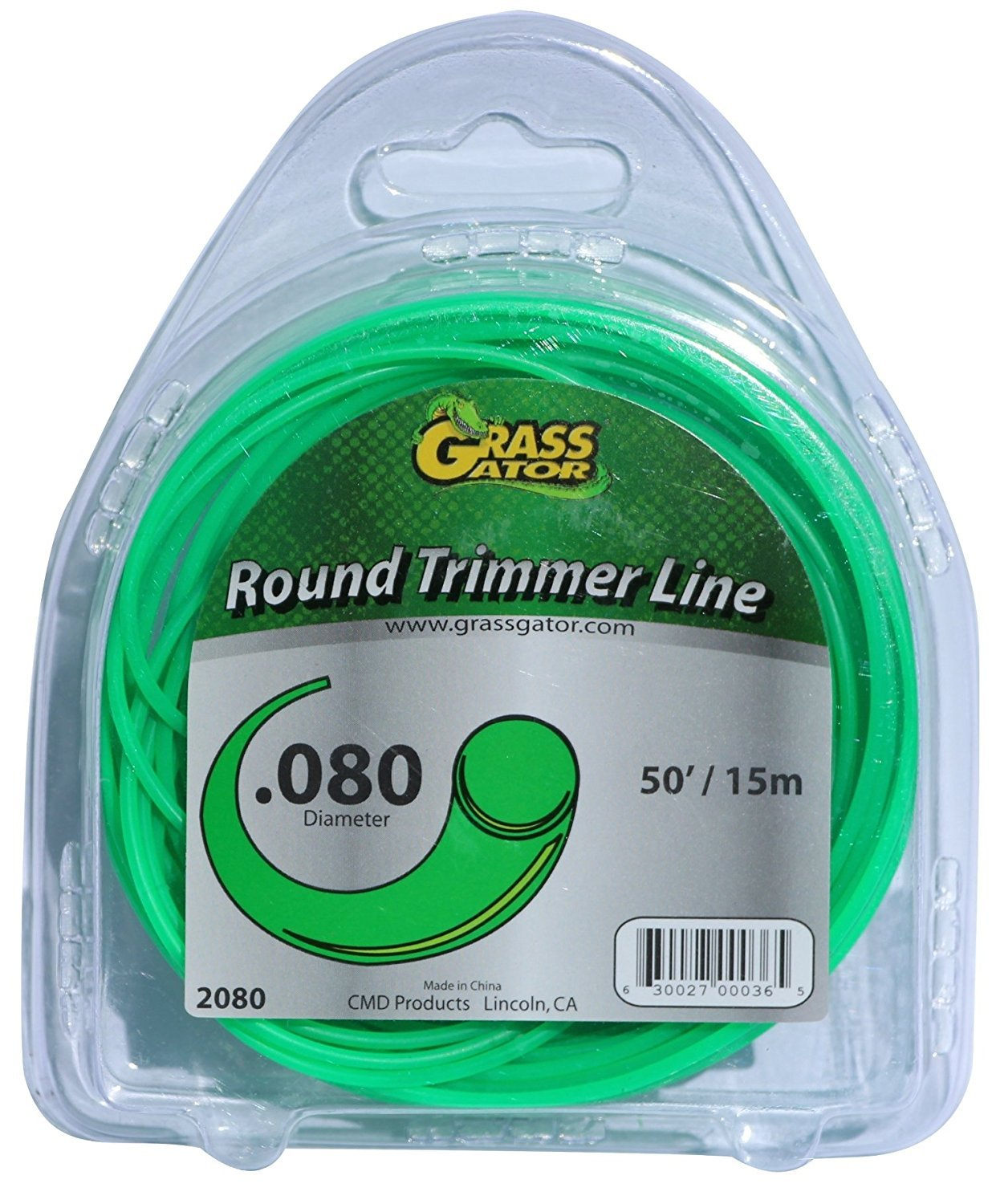 AAAmercantile 6 Pack 0.08 inch trimmer string line round weed eater 80mil (190 feet) Gator