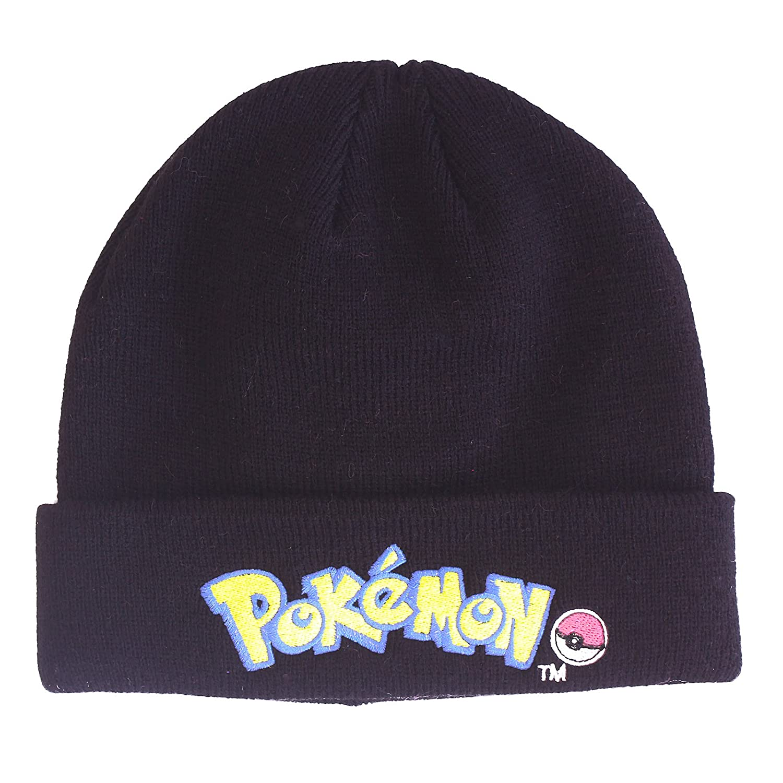 d240594d618 Pokemon Pokeball Winter Black Thermal Beanie Hat 8-12 Years  Amazon.co.uk   Clothing