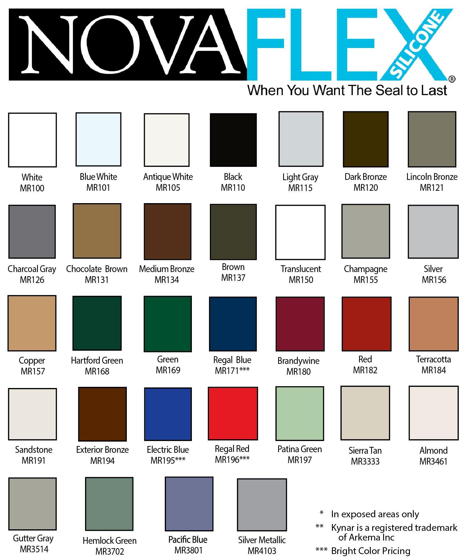Novaflex Metal Roof Sealant (Dark Bronze) Case of 12 Cartridges