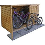 WALTONS EST. 1878 6x3 Wooden Overlap Bike Store, Double Door, Pent Roof, OSB Floor, Large Capacity, 6ft 3ft, 3-5 Day Free Delivery + 10 Year Guarantee & 0% Finance* From Waltons