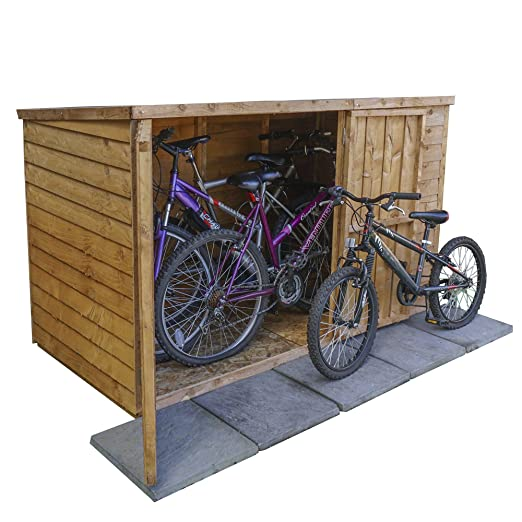 Caseta de madera superpuesta para almacenamiento de bicicletas de ...