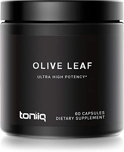 Ultra High Strength Olive Leaf Capsules – 40 Oleuropein – 500mg 22x Concentrated Extract 22,000mg Raw Powder Equivalent – The Strongest Olive Leaf Supplement Available