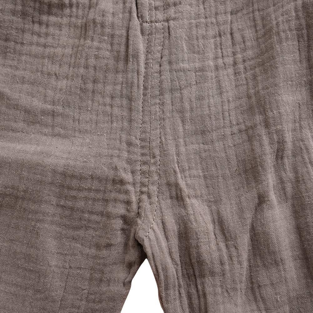 Loveble B/éb/é Filles Gar/çons Unisexe Surv/êtements Coton et Lin Court Bretelles Pantalons